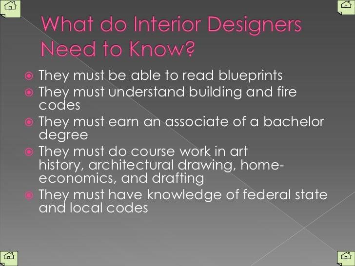 ... 3. What do Interior Designers ...