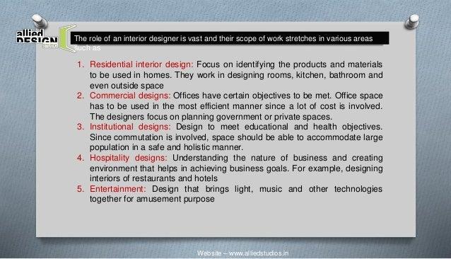 Website U2013 Www.alliedstudios.in; 4. The Role Of An Interior Designer ...