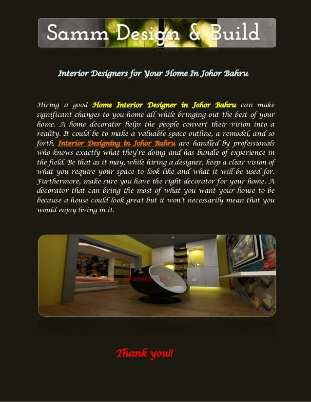 Interior Designers For Your Home In Johor Bahru Hiring A Good Home Interior  Designer In Johor