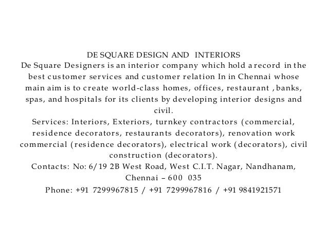 de square design and interiors chennai