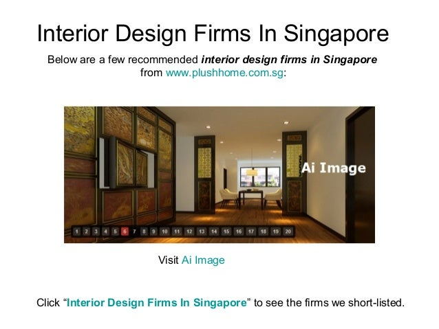 Interior design firms in singapore for Architecture firms in singapore