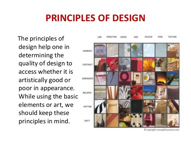 PRINCIPLES OF DESIGN ...