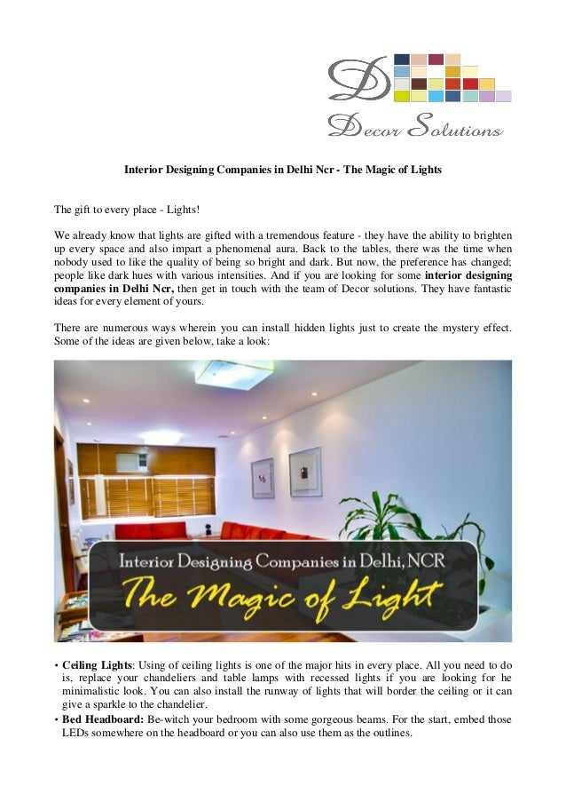 interior designing companies in delhi ncr
