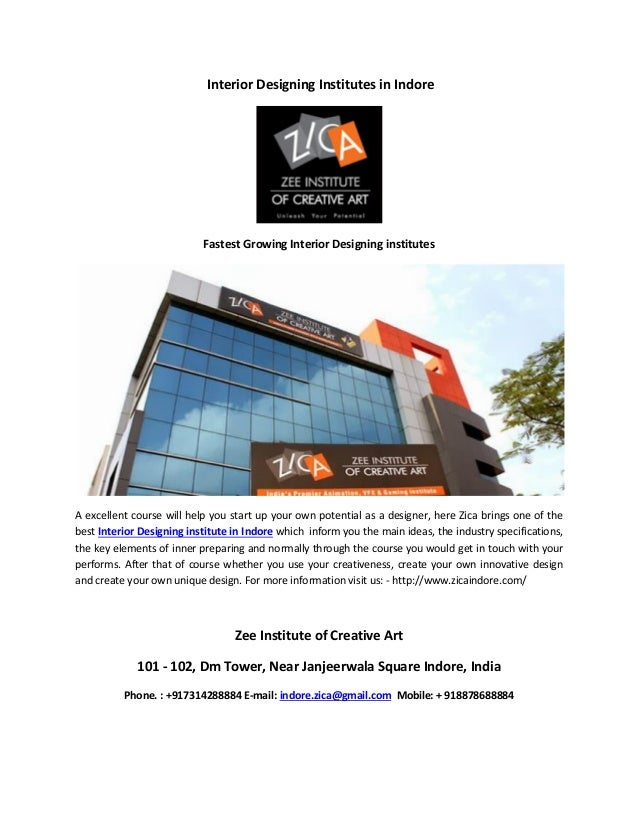 Interior Designing Institutes In Indore Fastest Growing A Excellent Course Will Help You