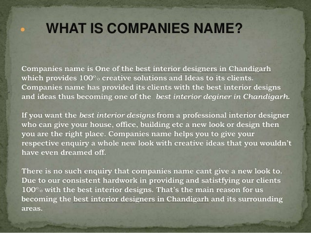 WHAT IS COMPANIES NAME 4 OFFICE INTERIOR DESIGNING