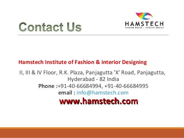 Hamstech Institute Of Fashion Interior Designing