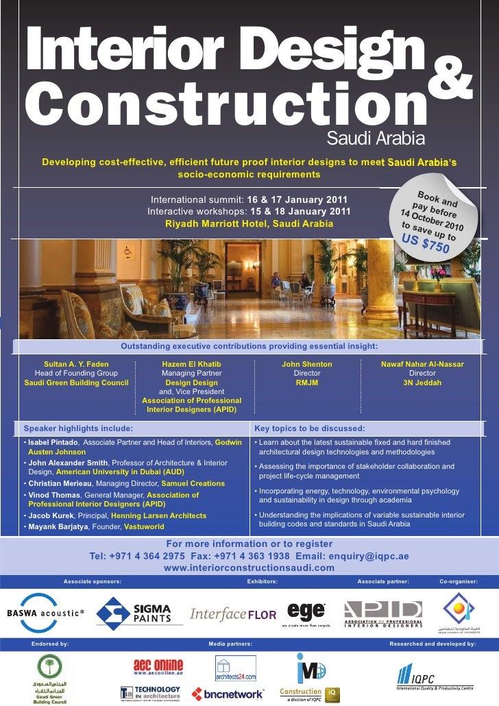 Interior Design and Construction Saudi Arabia