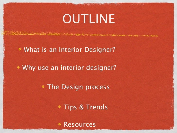 Interior design seminar presentation