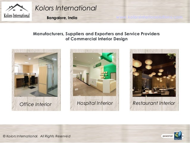 Interior Design Services In Bangalore Kolors International