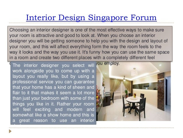 Interior Design Singapore Forum