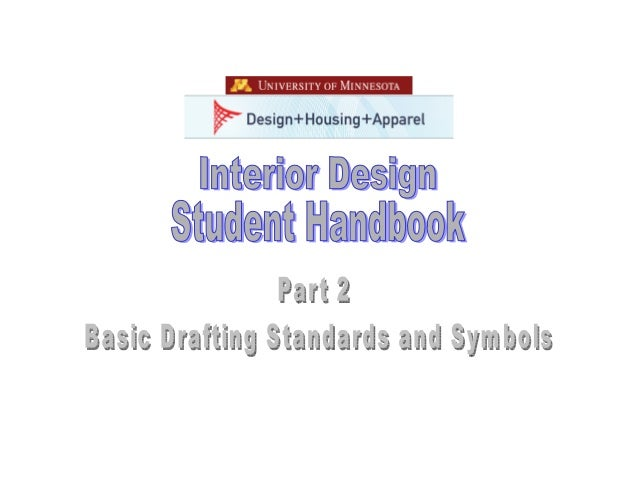 Interior Design Student Handbook Fall Quarter 2005 Department Of Housing And Apparel College Human Ecology 240 McNeal