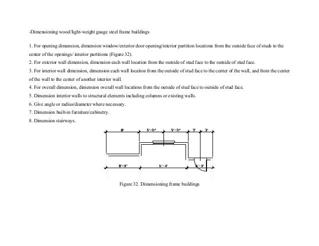 Dimensioning Frame Buildings 34