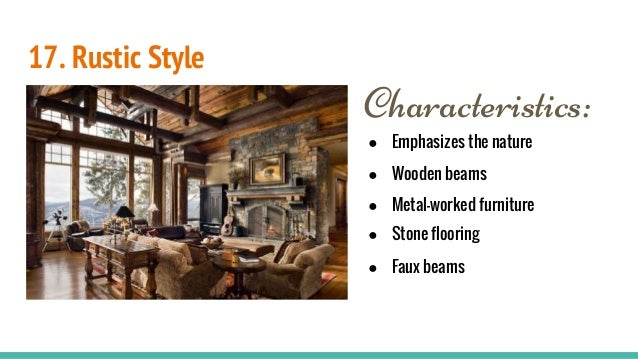 17 rustic style characteristics emphasizes the nature wooden beams ...