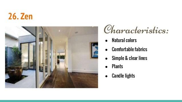 Interior design styles for Interior design styles characteristics