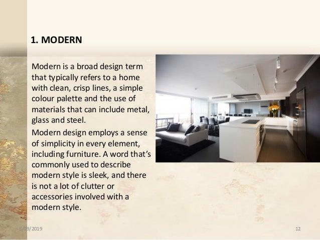 words to describe interior design styles
