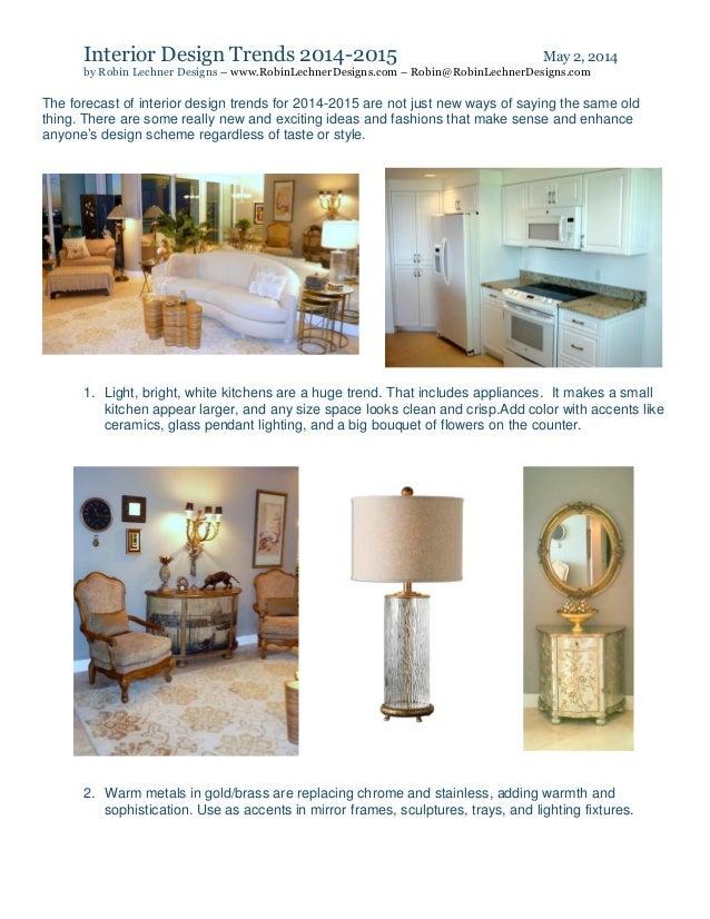 Interior design trends 2014 2015 for Interior trends 2014