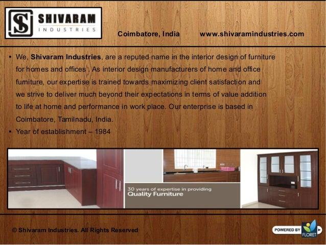 Renowned Manufacturers And Suppliers Of Interior Furniture Coimbatore India Shivaramindustries 2