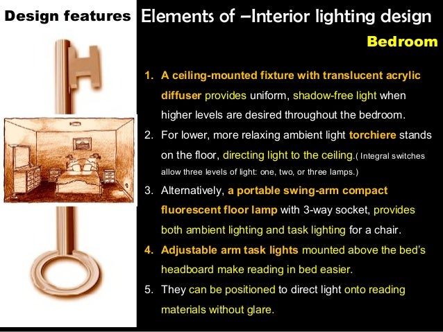 Interior lighting design tips for Lighting element interior design