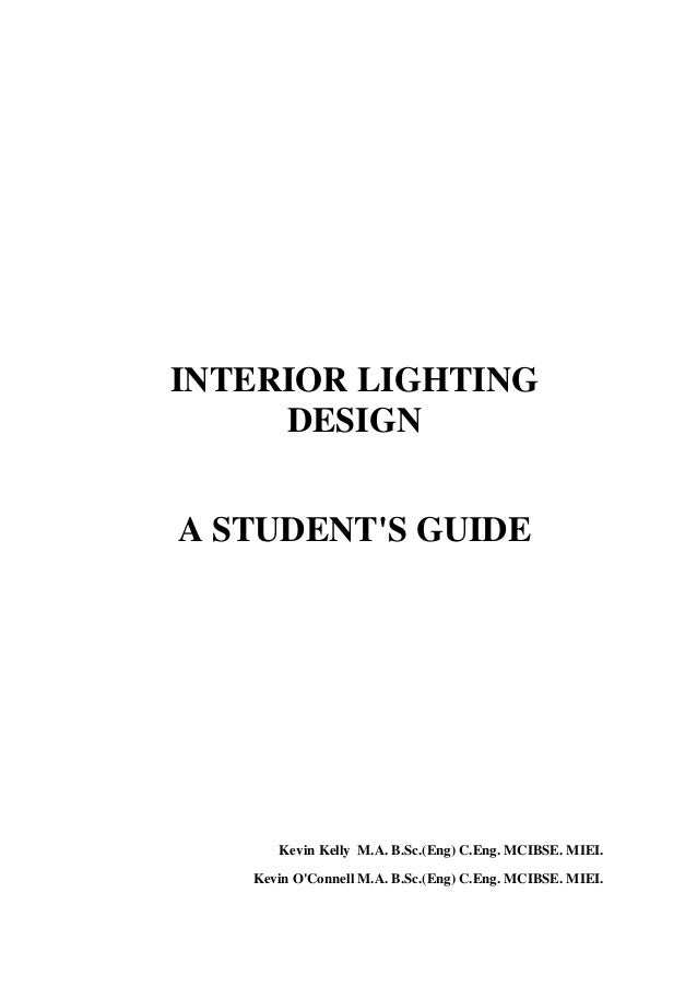 interior lighting design a student s guide