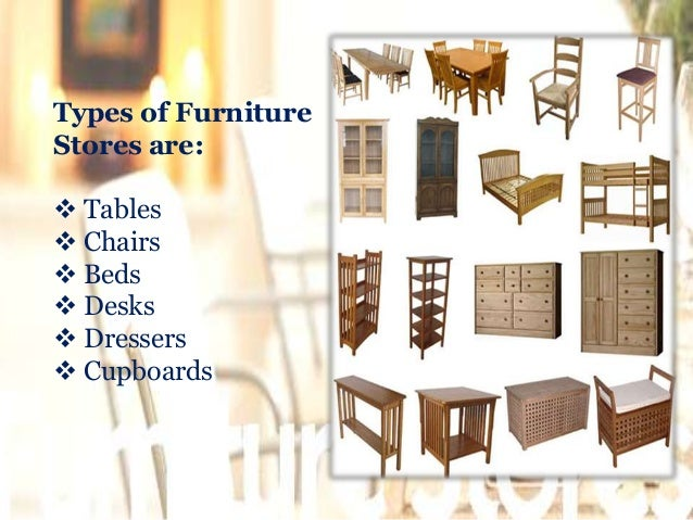 3 types of furniture stores