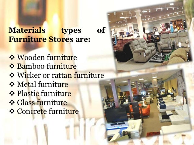 5 materials types of furniture stores