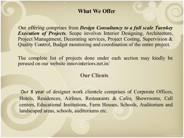 4 What We Offer Our Offering Comprises From Design