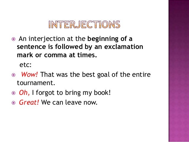 Interjection definition and examples in urdu with exercise sentences.