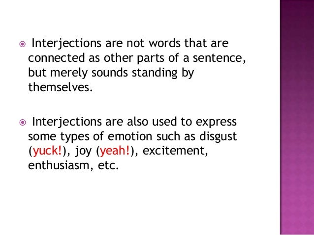 Interjection ppt – Interjection Worksheet