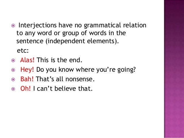 Interjection ppt
