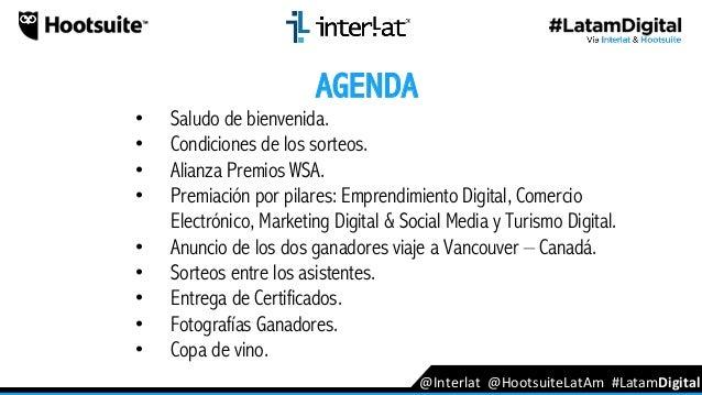 Interlat V Premios #latamDigital Ganadores 2016 - 2017 Slide 2