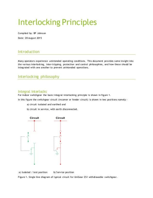 interlocking on switchgear principles, Circuit diagram