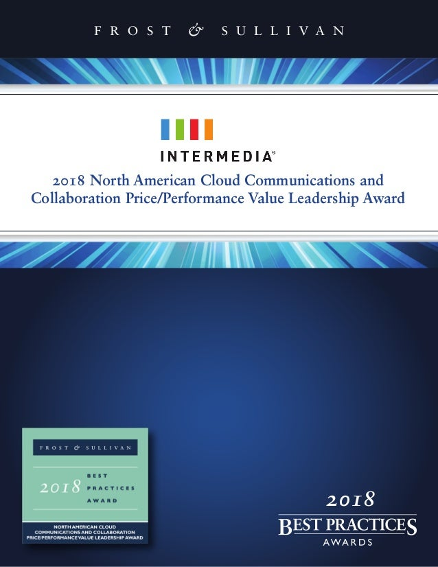 2018 North American Cloud Communications and Collaboration Price/Performance Value Leadership Award 2018