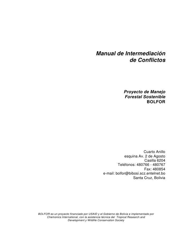 Manual de Intermediacion de Conflictos Slide 2