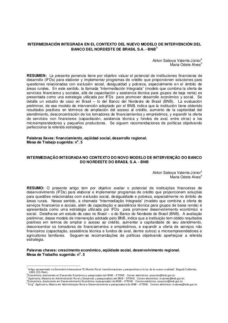 INTERMEDIACIÓN INTEGRADA EN EL CONTEXTO DEL NUEVO MODELO DE INTERVENCIÓN DEL                                              ...