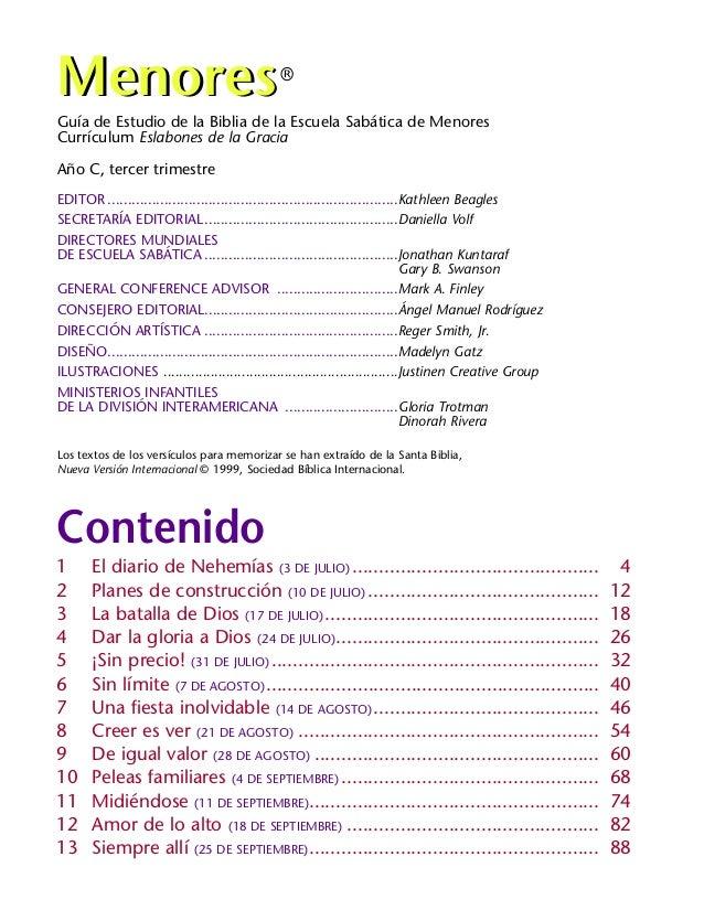 Guía de Estudio de la Biblia de la Escuela Sabática de Menores Currículum Eslabones de la Gracia Año C, tercer trimestre E...