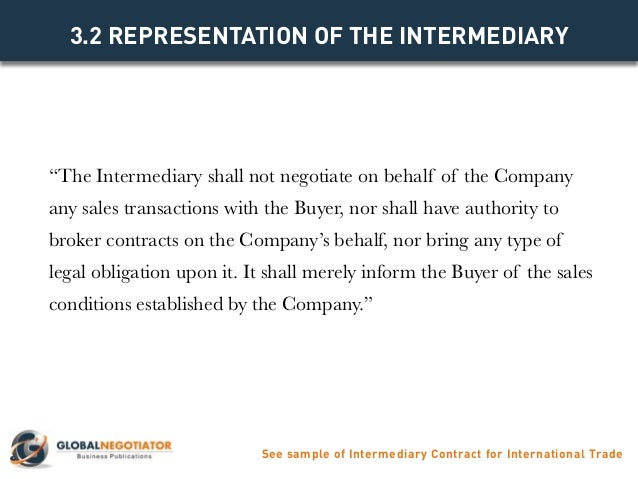 Intermediary contract for international trade contract template and 6 pronofoot35fo Gallery