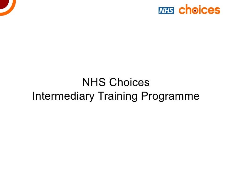 NHS Choices Intermediary Training Programme