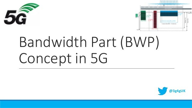 Bandwidth Part (BWP) Concept in 5G @3g4gUK