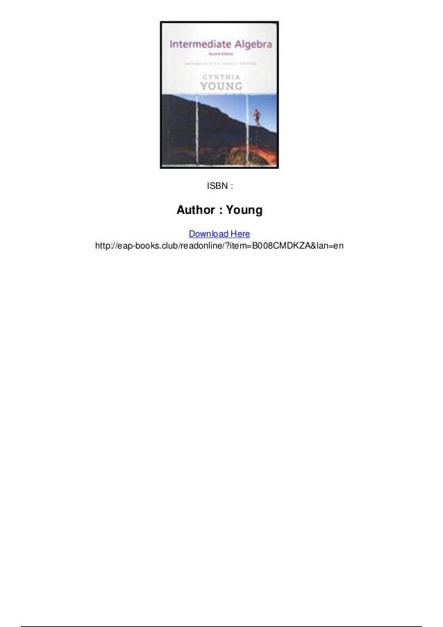 Intermediate algebra   ap edition  by young cynthia y hardcover  pdf Slide 3