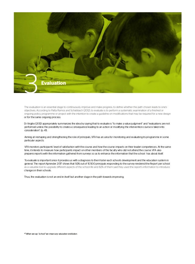 1Stage Impact on the principal and his/her partner Self-evaluation on competences Evaluation 180 (co-evaluation) about PIE...