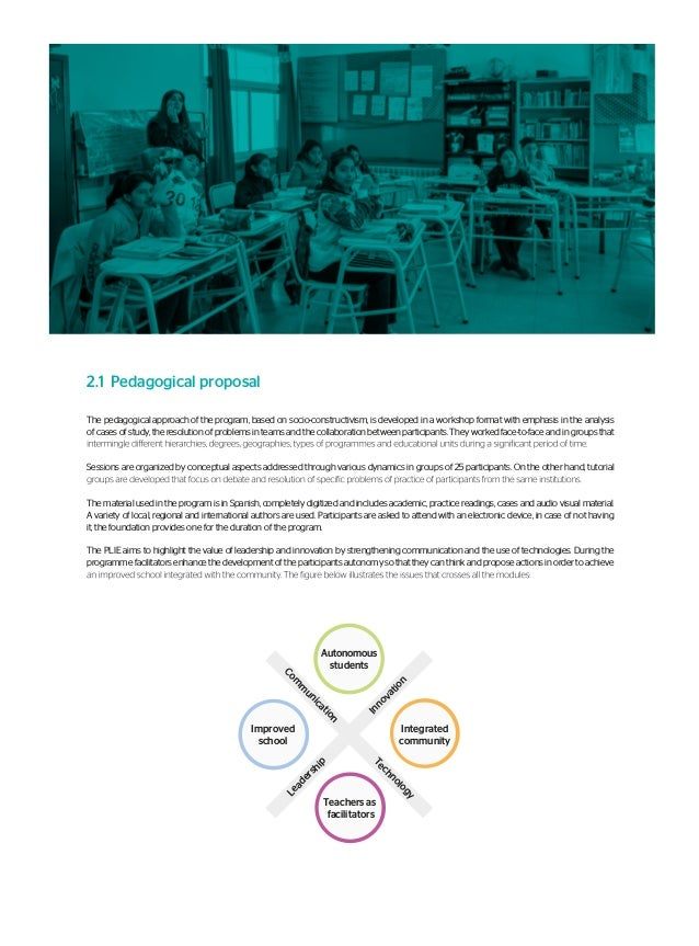 2.2 School Innovation Project (PIE, in its Spanish acronym) The preparation of the PIE is a crucial part of the Programme ...