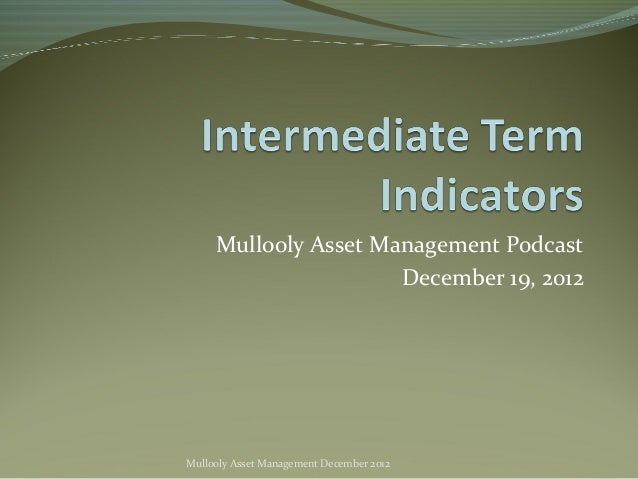 Mullooly Asset Management Podcast                      December 19, 2012Mullooly Asset Management December 2012