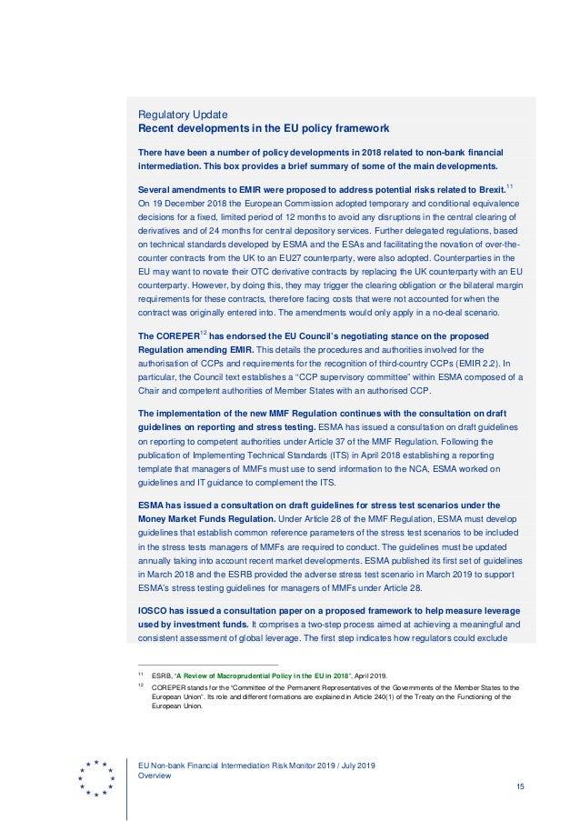 Intermediation Risk Monitor 2019