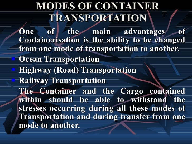 Advantages of containerisation
