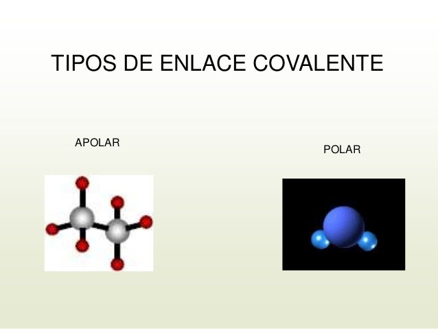 TIPOS DE ENLACE COVALENTE APOLAR POLAR
