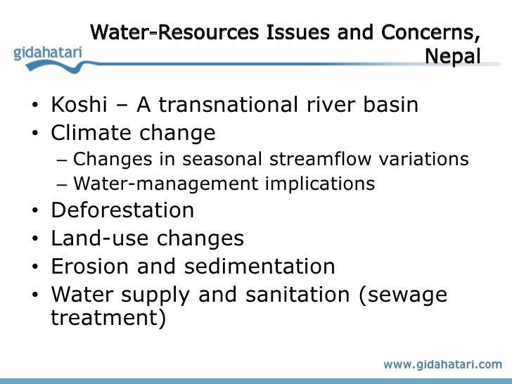 freshwater resource issue The sustainable development of water resources  it is difficult to think of a resource  issue in the united states.