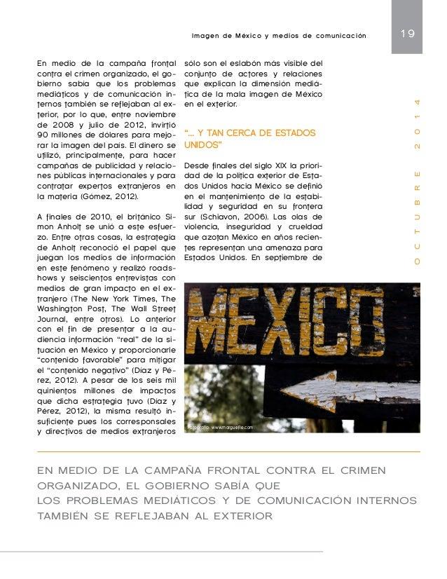 "Imagen de México y medios de comunicación 21  O C T U B R E 2 0 1 4  la CIA, de una base militar ""como  las que Estados Un..."