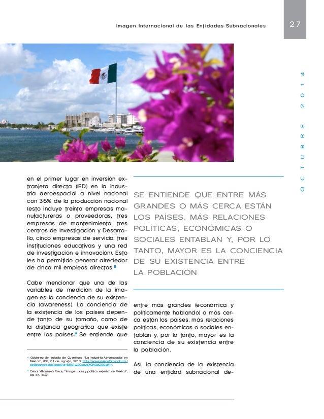 Imagen Internacional de las Entidades Subnacionales 29  O C T U B R E 2 0 1 4  la globalización, la liberalización  económ...