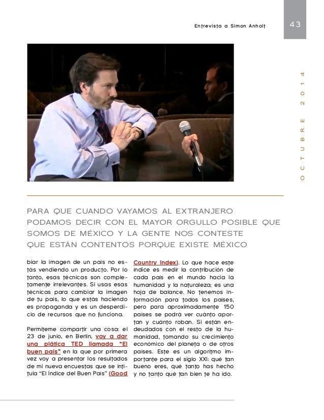 Bases para las estrategias de representación y promoción internacional de México 45  O C T U B R E 2 0 1 4  nacionales (CO...