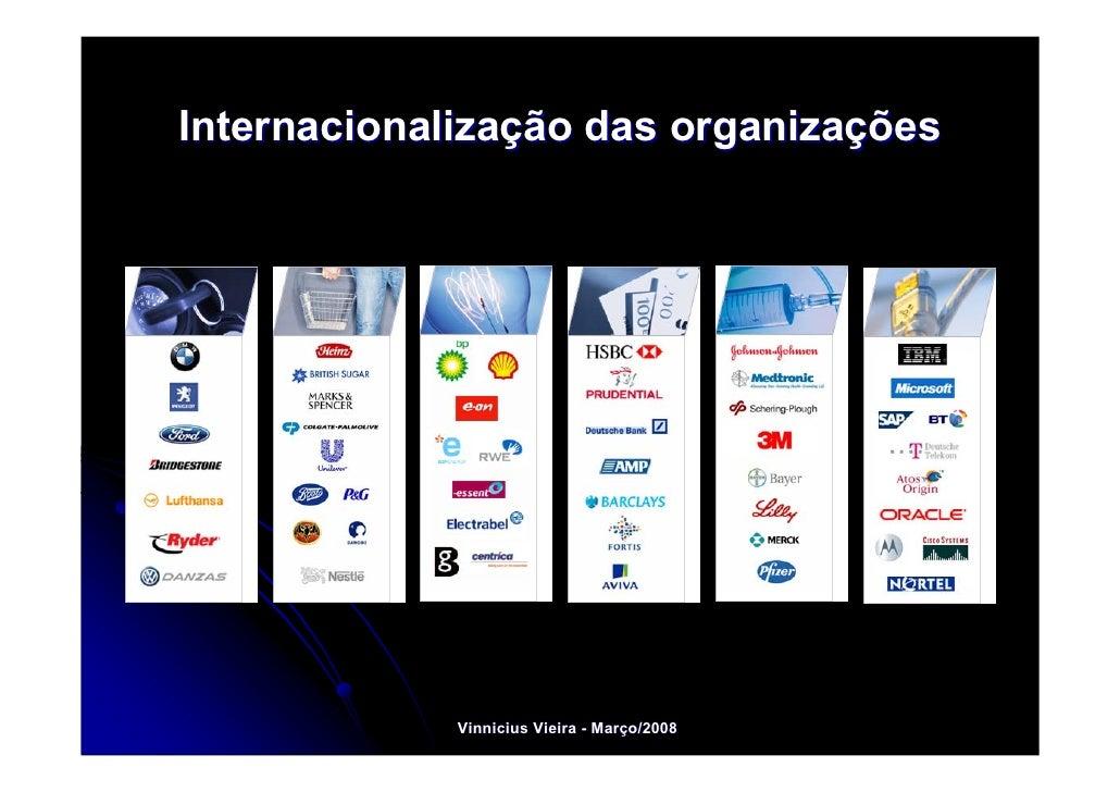 Internacionalização das organizações          Energy                    Vinnicius Vieira - Março/2008                     ...